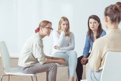 Psychotherapy for people with problems Royalty Free Stock Image