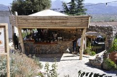 Psychro, august 29th: Cave of Zeus Way Tavern in Crete island of Greece. Tavern on the Way of Cave of Zeus in Crete island of Greece on August 2017 stock photo