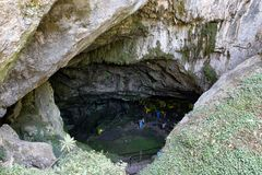 Psychro cave in Crete, Greece Royalty Free Stock Images