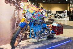 Psycodelic Harley Davidson motorcycle Royalty Free Stock Photos