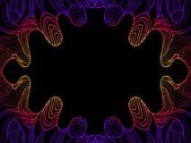 Psykedelisk abstrakt vågram för tappning, bakgrund för lutningfärgöversikt Dekorativt beståndsdelkort för klotter vektor illustrationer