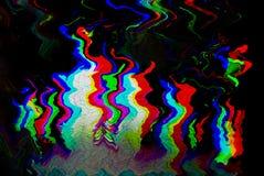 Psykedelisk bakgrund för tekniskt fel Gammalt TVskärmfel Design för abstrakt begrepp för Digital PIXELoväsen Fototekniskt fel Tel Royaltyfri Foto