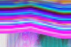 Psykedelisk bakgrund för tekniskt fel Gammalt TVskärmfel Design för abstrakt begrepp för Digital PIXELoväsen Fototekniskt fel Tel Royaltyfri Bild