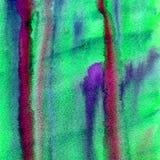 Psykedelisk bakgrund vattenfärgför vätskegrungeabstrakt begrepp Royaltyfri Foto