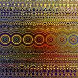Psykedelisk färgglad modell Unikt abstrakt konstverk Idérik geometrisk bakgrundsdesign Fractal Art Illustration textur Royaltyfri Foto