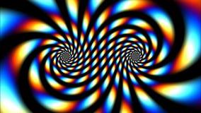 Psykedelisk färgvirvel stock video
