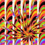 Psykedelisk geometrisk abstrakt effekt för grunge för bakgrundsvektorillustration Arkivbilder