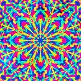 Psykedelisk geometrisk sömlös modell Arkivfoton