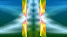 Psykedelisk video bakgrund, abstrakta texturerade former som roterar och ändrar färger, färgrikt livligt spektrum vektor illustrationer