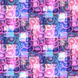 Psykedeliska ljusa rosa färger och blått blänker modellen royaltyfri illustrationer