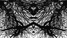 Psykedeliskt svartvitt för abstrakt textur Arkivbilder