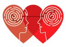 Psykologi av förälskelse vektor illustrationer