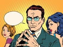 Psykologi av män och kvinnor vektor illustrationer