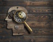 Psykologi eller uppfinner befruktning Illustration för hjärnfunktionsmodell 3d royaltyfri illustrationer