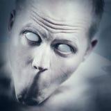 Psykopat och läskig framsida Arkivfoton