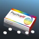 Psykopatpreventivpiller Arkivfoton
