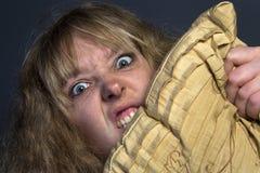 Psykotisk kvinna Arkivbilder