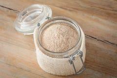 Psyllium husks powder Royalty Free Stock Photo