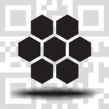Pszczół honeycombs wektoru ilustracja royalty ilustracja