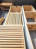 Pszczół pudełka Zdjęcia Royalty Free