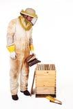 pszczelarki roju dymienie Zdjęcia Stock