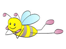 pszczoła śliczna Zdjęcie Royalty Free