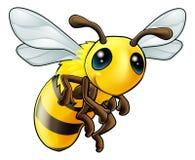 Pszczoła śliczny Charakter Obrazy Royalty Free