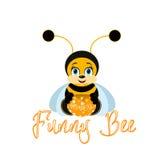 pszczoła śmieszna Obrazy Royalty Free
