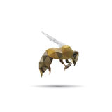 Pszczoła abstrakt Zdjęcia Royalty Free