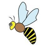 Pszczoła insekta natury bestii ikony kreskówki Drobiowego projekta abstrakcjonistyczny ilustracyjny zwierzę Obraz Stock
