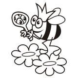 Pszczoła - królowa - kolorystyki książka Obrazy Royalty Free
