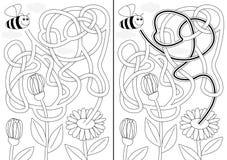 Pszczoła labirynt ilustracja wektor