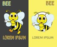 Pszczoła loga projekta pojęcie Abstrakcjonistyczna Kreatywnie pszczoły ikona Zdjęcie Stock