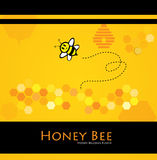pszczoła miód Obrazy Royalty Free