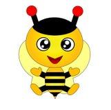 pszczoła szczęśliwa Zdjęcie Royalty Free