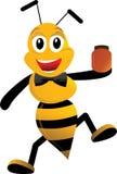 pszczoła szczęśliwa Obraz Royalty Free