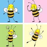 pszczoła szczęśliwa Fotografia Royalty Free