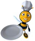 pszczoła szef kuchni royalty ilustracja