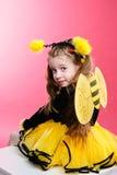 pszczoła trochę Obrazy Royalty Free