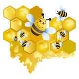 pszczoła wesoło Zdjęcia Stock