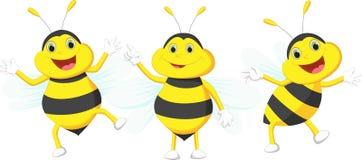 Pszczoły śliczna kreskówka Fotografia Stock