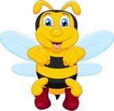 Pszczoły śmieszna kreskówka Obrazy Royalty Free