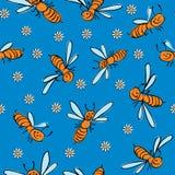 pszczoły bezszwowy śmieszny Fotografia Royalty Free
