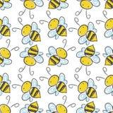 Pszczoły bezszwowy deseniowy tło Wektor EPS 10 Obraz Royalty Free