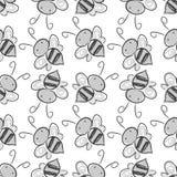 Pszczoły bezszwowy deseniowy tło Wektor EPS 10 Obrazy Stock