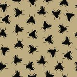 pszczoły deseniują bezszwowego Zdjęcia Stock