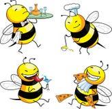 pszczoły emocja cztery ilustracji