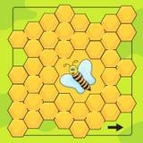 Pszczoły i honeycomb gra dla Preschool dzieci Pomocy pszczoła walkthrough labitynt royalty ilustracja