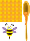 Pszczoły i miód obrazy stock