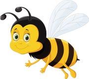 Pszczoły kreskówki latanie odizolowywający na białym tle Zdjęcie Royalty Free